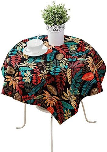 ZXL tafelkleed met bladeren, creatieve kunst van stof, decoratie voor restaurant, woonkamer, eettafel, bedrukt, 90-240 cm (kleur: A, grootte: 80 x 120 cm)