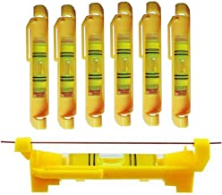 6x Hanging Bubble Line Level for Building Trades, Engineering, Surveying, Metalworking..