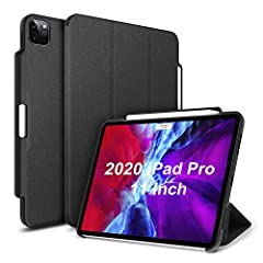 [Compatible model]: Only compatible for newest iPad Pro 11 inch 2020 Case 2nd Generation (model-A2228/A2231). Please check model number on the back of ipad before purchase. [Support Auto Sleep/wake feature]: With Built-in magnets secures the case clo...