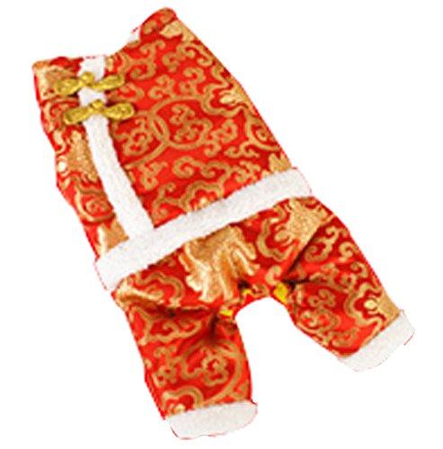 Blancho confortable d'hiver pour chien chinois Costumes pour animal domestique Vêtements (Rouge, taille : XL)