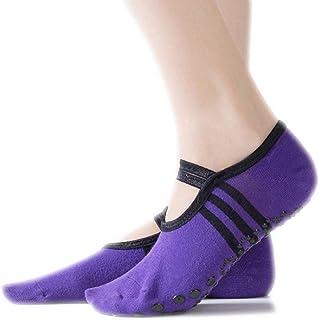 Calcetines de yoga Calcetines Antideslizantes for el Dedo del pie Calcetines de Baile de Yoga for Mujer Calcetines Invisibles for el Dedo del pie (Color : Purple)
