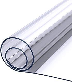 JMSL Bordsdukar transparent bordsduk PVC plast bordsskydd vattentät oljesäker hem soffbord 1 datorbord skyddsfilm 2 mm tjo...