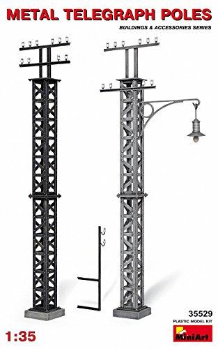 Miniart 1:35 - Metal Telegraph Poles - MIN35529