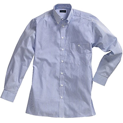 Pionier 1130-46 Shirt Business Fashion gestreept Maat 46 in marine blauw/wit