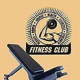 LKJHGU Fitness haltère entraînement Fitness Motivation Vinyle Autocollant Mural Protection des Animaux Sauvages