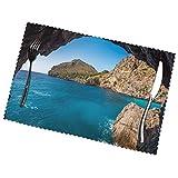 ZCHW Juego de 4 manteles Individuales, Arch in Mallorca Spain Imprimiendo Manteles de Mesa Lavables Resistentes al Calor 30X45CM
