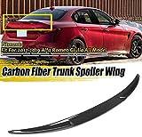 QTCD Vero Spoiler Posteriore in Fibra di Carbonio per Auto Baule Spoiler Ala Lip Quadrifog...