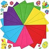 18 Fogli di Stoffa Feltro Fai-da-Te di Pasqua 11,8 x 7,9 Pollici Fogli di Feltro Artigianale Morbido Patchwork di Stoffa Cucito in Feltro 6 Fogli di Stoffa Feltro Colorati per Compleanno
