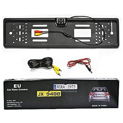 Ezonetronics-170–HD-Auto-Rear-View-Rueckfahrkamera-Europaeischer-Nummernschildrahmen-Kfz-Kennzeichen-Kamera-mit-4-LED-Night-Vision