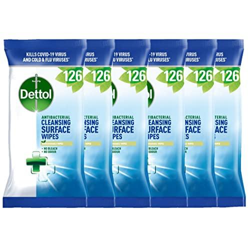 Dettol, toallitas anti-bacterianas para limpiar superficie, 756 piezas.