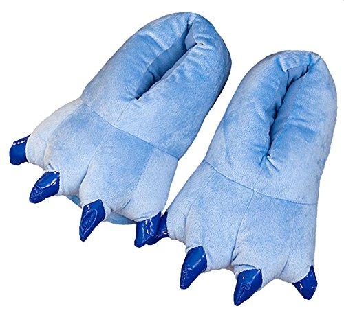 Dinosaur Claws Cotton Slippers Unisexo Otoño Invierno Zapatilla Lana de Coral Animal Pata Zapatos Claw Decor Dinosaurio Pantuflas de Felpa(Azul) (Women 35-39)