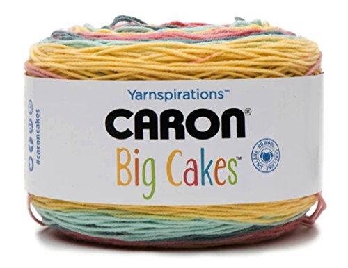 Caron Big Cakes Self Striping Yarn ~ 603 yd/551 m / 10.5oz/300 g Each (Summer Berry Tart)