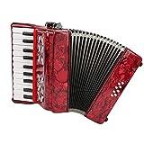 Acordeón para principiantes, acordeón de piano de 8 bajos y 22 teclas para adultos, acordeón profesional para niños, acordeón de botones, instrumentos musicales, juego de acordeón