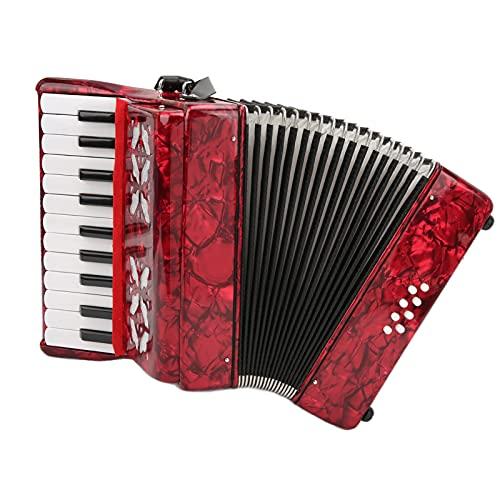Accordéon Débutant, Accordéon Piano 8 Basses 22 Touches pour Adulte, Accordéon Professionnel pour Enfants, Accordéon Bouton Instruments de Musique Accordéon Jouant