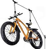 BMCC Elevador de garaje para portabicicletas, caja de techo, kayak – Elevador de techo ahorra espacio para bicicletas, gancho de techo, poleas y ganchos para colgar
