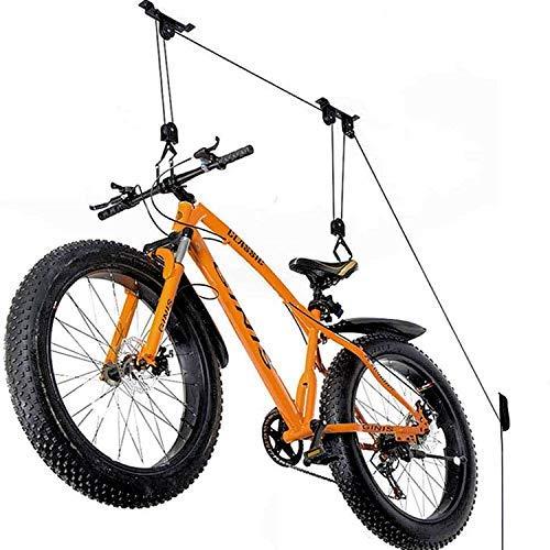 BMCC Garaje para portabicicletas de techo para montar en bicicleta de interior techo para bicicleta MTB pared ganchos soporte trasero casa