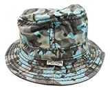 True Religion Jeans Men's Reversible Camo Bucket Hat Cap (Castle Rock, S/M)