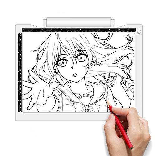 Tablero de Dibujo Animación a través de escritura Tabla de copia de la tabla Tablero de dibujo de niños Tablero de boceto Copia portátil Tabla A4 Batería de la batería Para Artistas Dibujando