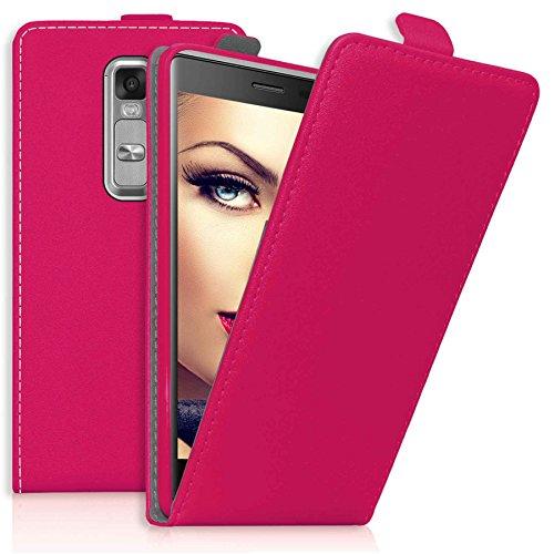 mtb more energy® Flip-Hülle Tasche für LG Class/LG Zero (H650, 5.0'') - Hot Pink - Kunstleder - Schutz-Tasche Cover Hülle