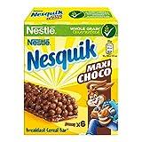 Nesquik Cereali Maxi Choco Barrette di Cereali al Cioccolato e al Latte, 6 Pezzi