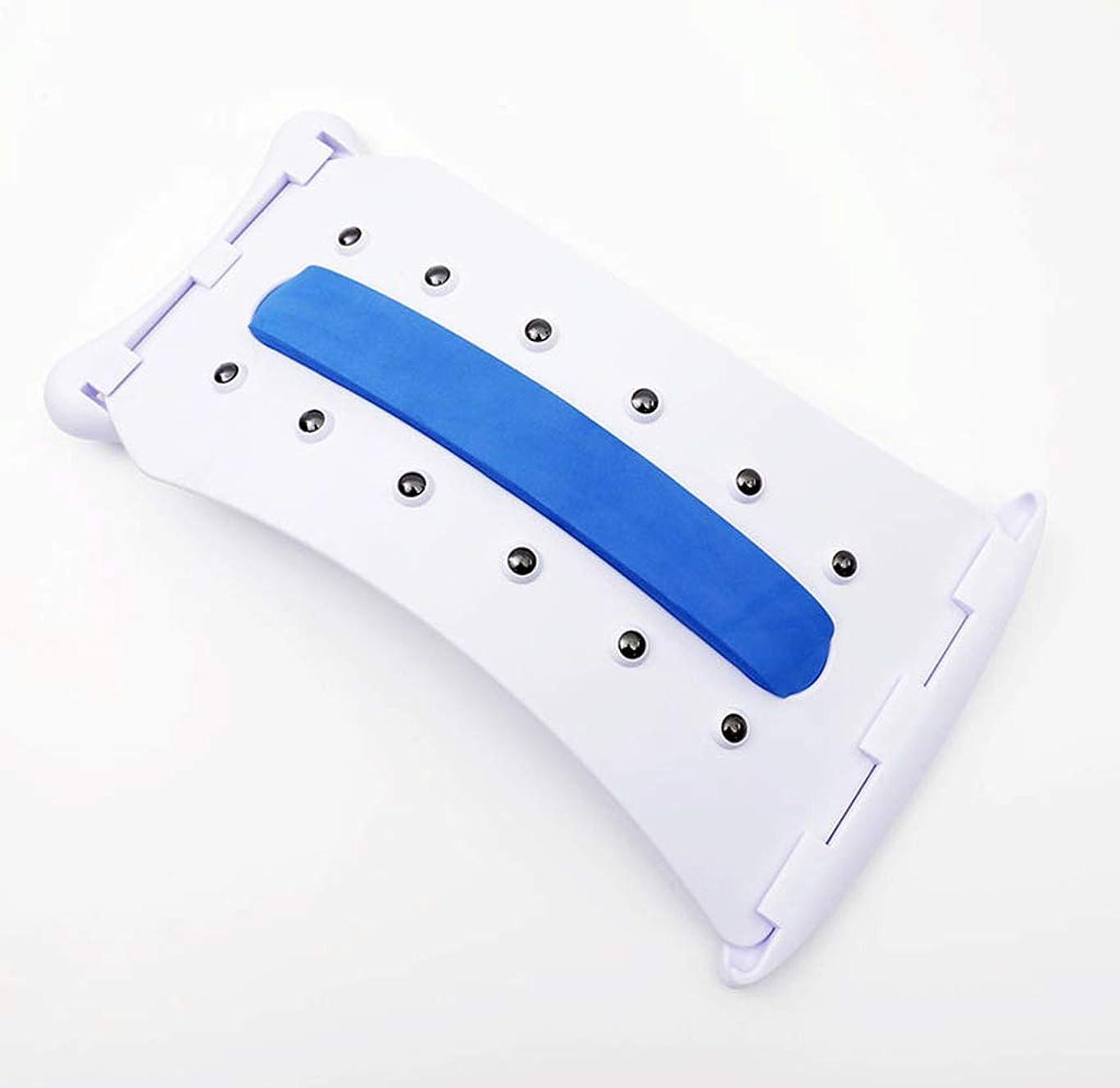 知覚的モスクタフ腰椎サポートバックマッサージブレースマッサージストレッチャーリラクゼーション12マッサージポイント背骨の痛みを緩和ストレッチ機器フィットネス