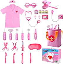 Invech Doctor Kit for Kids,Pretend Play Doctor Playset with Electronic Stethoscope,Dentist Medical Kits Role Play Educational Toy for Toddlers Age 3 4 5 6 7 Year Old