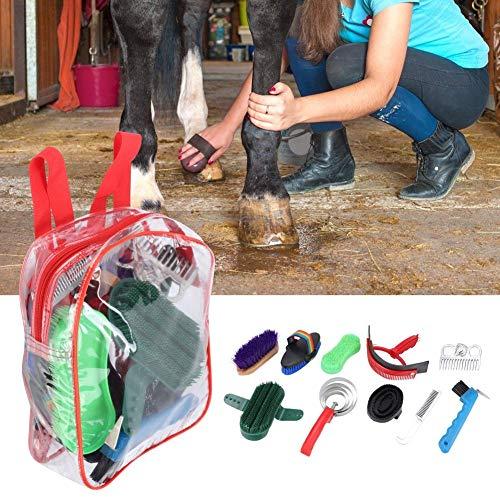 Hästskötsel-kit, hästborste i plast hästborste hästskötsel häst städredskap, hästskötselkit trähästborste set för hästborste häst
