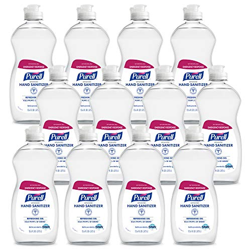 PURELL Advanced Hand Sanitizer Refreshing Gel, Clean Scent, 12.6 fl oz Bottle (Pack of 12) - 9747-12-S