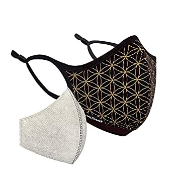 Halo Life Face Mask - Reusable/Washable with Replaceable Nanofiber Filter - Lightweight Ultra-Breathable Form-Fitting Specific Sizes and Adjustable to fit for Women/Men/Children- 200 Hour Filter Life
