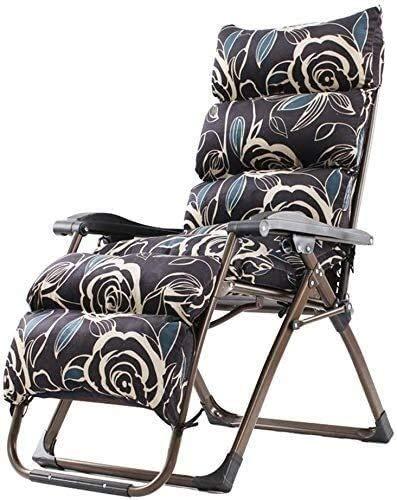 Chaises de jardin Office Life Transat en zéro gravité, Chaises de patio inclinables réglables pour une utilisation en extérieur avec coussin Chaise de jardin inclinable avec fonction de support pli