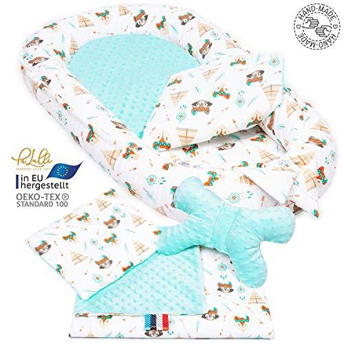 Nido de beb/é TEALP Tumbona para beb/é elefante morado Nido Transpirable para reci/én Nacido Edred/ón de beb/é con algod/ón org/ánico Supersoft