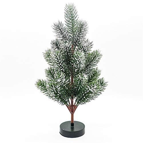 Wapipey 30 CM Brillante Mini Navidad árbol Artificial de Escritorio Moderno Creatividad Inmortal la decoración del hogar Año Nuevo Familia de Navidad Adornos for el Restaurante