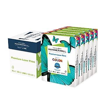Hammermill Printer Paper Premium Laser Print 24 lb 8.5 x 11-5 Ream  2,500 Sheets  - 98 Bright Made in the USA 104640C