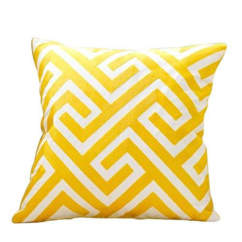 YONGYONG Couverture De Coussin D'oreiller De Sofa De Coton Simple Sans Noyau Oreiller Géométrique Nordique De Coussin De Dos De Lit Moderne (Color : D)