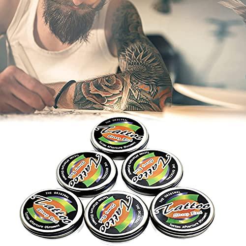 6 Stück Tattoo Aufhellungsbehandlung Balsam, Tattoo Lotion Zur Farbverbesserung - Aufheller, Tattoo Nachsorge Salbe Pakete, Erholung Nachsorge Tattoo Salbe, Tattoo Narbe Reparatur Gel