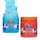 Elmer's GUE Pre-Made Slime, Blueberry Cloud Slime and Strawberry Cloud Slime, Scented, 2 Count