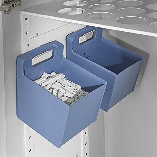 Hailo Laundry Area Küchen-Abfalleimer, Blau, One Size
