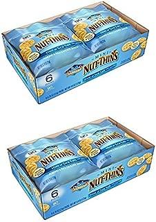 Blue Diamond Mini Nut Thins, Hint of Sea Salt, (Two 6-packs) …