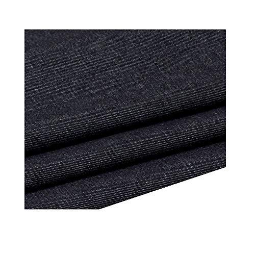 Katoenen spijkerstof gemaakt van hoogwaardig gewassen stof spijkerrok jeans bankjas schort(150 cm x 100 cm) (Color : Black)