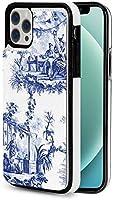 iphone 12 pro ケース iphone12 ケース 手帳型 ブルーシノワズリー Iphone12 mini Iphone12 Pro Max 用 スマホケース スタンド機能 Apple 12 レザーウォレットケースアイフォン12 ケース / アイフォン12プロ ケース 財布型