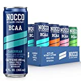 NOCCO - BCAA Post Workout Recovery Drink Bundle - Sugar Free with BCAAs Amino Acids, Low Calorie Supplement Drinks for Active Men and Women (Variety, 12-Pack)