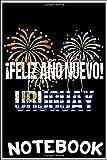 Notebook: Camiseta Uruguay Happy New Year Feliz Ano Nuevo 2020 notebook 100 pages 6x9 inch by Tatden Dingu