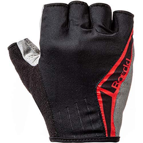 Roeckl Biel Fahrrad Handschuhe kurz schwarz/rot 2020: Größe: 8
