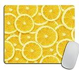 Yellow Lemon Slices Mousepad, Tropical Mouse Pad, Fruit Mousepad, Vegan Mouse Pad, Cute Gift, Funny Gift, Food Mousepad