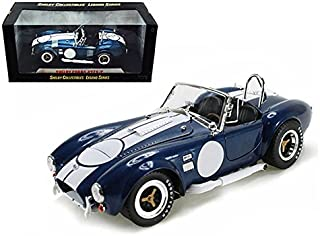 Maisto 1965 Shelby Cobra 427 S/C Blue With Printed Carroll Shelby Signature 1/18 Model Car by Shelby Collectibles