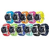 Angersi 22mm Silicona Suave Bandas de Repuesto de Correa Deportiva Compatible con Samsung Gear S3 Frontier/Gear S3 Classic/Galaxy Watch 46mm/Galaxy watch3 45mm Smartwatch
