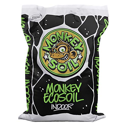 MONKEY SOIL Tierra para Plantas Marihuana 50L Exterior/Interior Sustrato Abono Universal Vegetal...