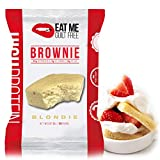Eat Me Guilt Free Protein Brownie, Low Carb Healthy Snack or Dessert, 22g Protein, Blondie (12 Count)