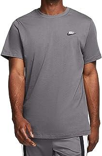 Nike Men's Sportswear Club T-Shirt AR4997-021 Size M Dark Grey/White/Black