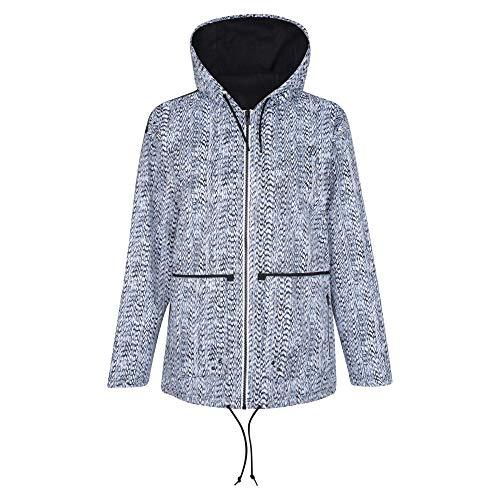 Dare 2b Damen Deviation Waterproof and Breathable Slouch Fit Hooded Outdoor Jacke, schwarz/weiß, EU 40 ,Größe 14